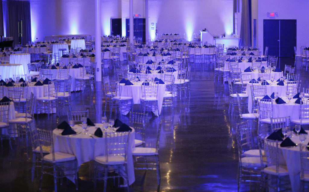 Event room with tables